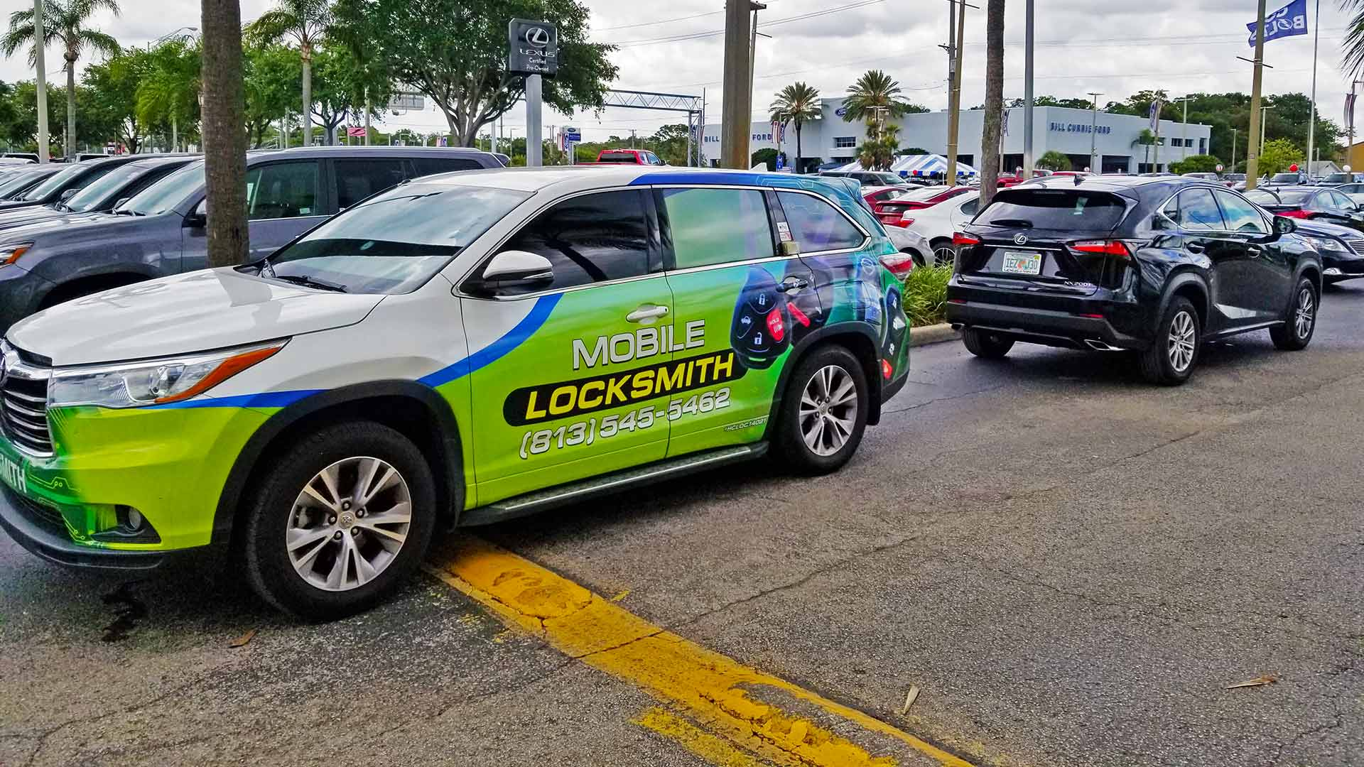 Providing key replacement services at a dealership in Brooksville, FL.