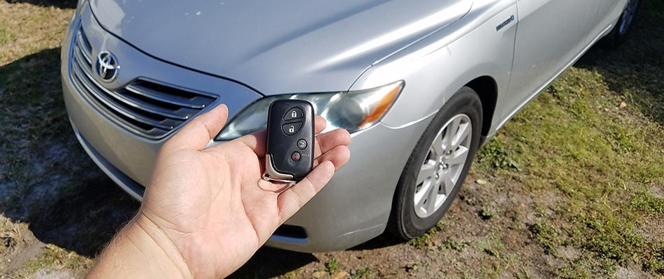 Toyota vehicle key replacement in Tampa, FL.