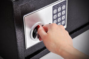 Cheap Lock & Key opening an electronic safe in Wesley Chapel, FL.